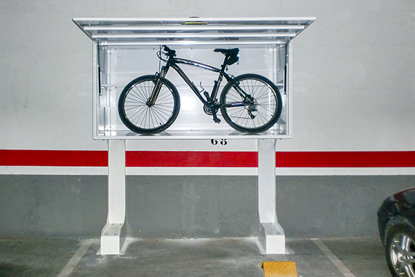 armario trastero elevado para parking sanor carbox